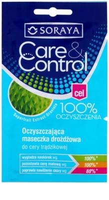 Soraya Care & Control masca de fata  pentru curatare impotriva acneei