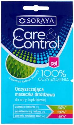 Soraya Care & Control очищаюча маска для обличчя проти акне