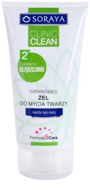 Soraya Clinic Clean gel de limpeza refrescante para todos os tipos de pele