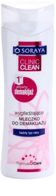 Soraya Clinic Clean молочко для зняття макіяжу з розгладжуючим ефектом для всіх типів шкіри
