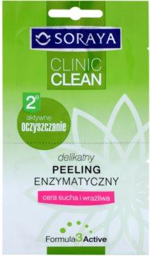 Soraya Clinic Clean exfoliere enzimatica blanda pentru piele uscata spre sensibila