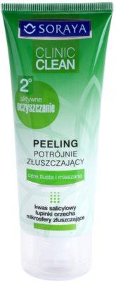 Soraya Clinic Clean esfoliante de limpeza para uma pele radiante