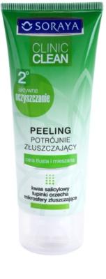 Soraya Clinic Clean почистващ пилинг за сияен вид на кожата