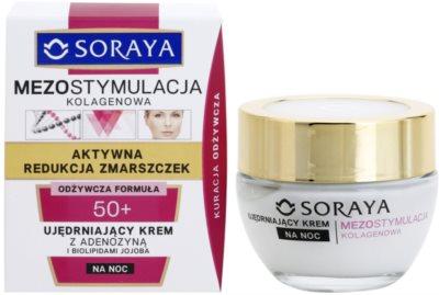 Soraya Collagen Mesostimulation crema de noapte pentru fermitate antirid 1
