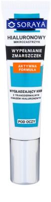 Soraya Hyaluronic Microinjection creme antirrugas para contorno de olhos com ácido hialurônico com ácido hialurónico