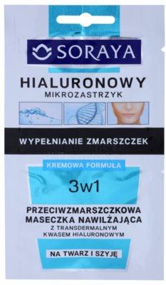 Soraya Hyaluronic Microinjection hidratáló maszk a ráncok ellen hialuronsavval