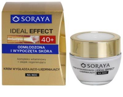 Soraya Ideal Effect crema de noche rejuvenecedora para tensar la piel 1