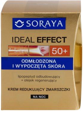 Soraya Ideal Effect нощен крем против бръчки  за подмладяване на кожата на лицето 2