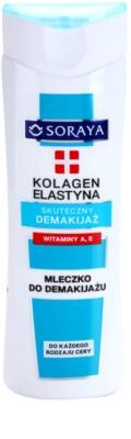 Soraya Collagen & Elastin мляко за почистване на грим с витамини А и Е