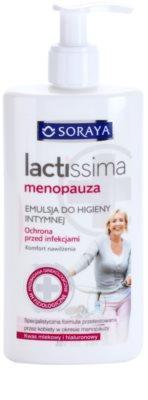 Soraya Lactissima tisztító emulzió intim higiéniára menopauza alatti nőknek