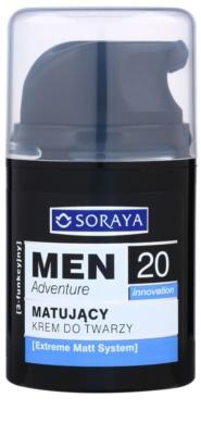 Soraya MEN Adventure 20+ crema de matifiere cu efect de hidratare crema de matifiere cu efect de hidratare pentru barbati