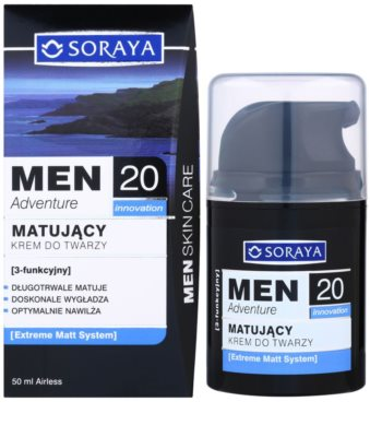 Soraya MEN Adventure 20+ zmatňujúci krém s hydratačným účinkom pre mužov 2