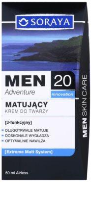 Soraya MEN Adventure 20+ матиращ крем с хидратиращ ефект за мъже 3
