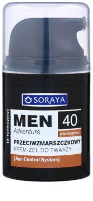Soraya MEN Adventure 40+ przeciwzmarszczkowy żel-krem dla mężczyzn