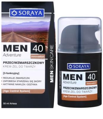 Soraya MEN Adventure 40+ przeciwzmarszczkowy żel-krem dla mężczyzn 2