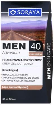 Soraya MEN Adventure 40+ przeciwzmarszczkowy żel-krem dla mężczyzn 3