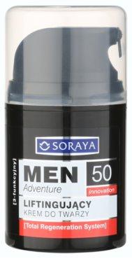 Soraya MEN Adventure 50+ crema con efecto lifting para hombre