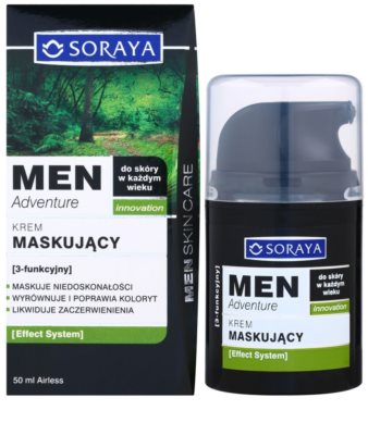 Soraya MEN Adventure crema anti-imperfecciones y anti-rojeces para hombre 2