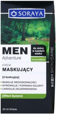 Soraya MEN Adventure crema anti-imperfecciones y anti-rojeces para hombre 3