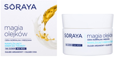 Soraya Magic Oils creme hidratante para pele normal a mista 1
