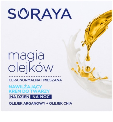 Soraya Magic Oils creme hidratante para pele normal a mista 2