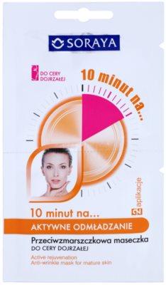 Soraya 10 Minutes омолоджуюча маска для зрілої шкіри