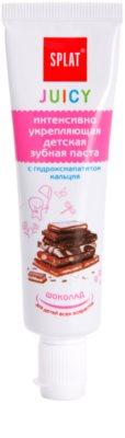 Splat Juicy Chocolate fogkrém gyermekeknek vagy a nagyon érzékeny fogú felnőtteknek