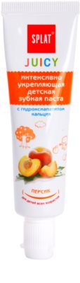 Splat Juicy Peach zubní pasta pro děti a velmi citlivé zuby dospělých
