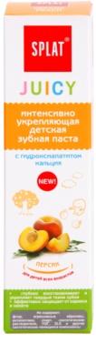 Splat Juicy Peach zubní pasta pro děti a velmi citlivé zuby dospělých 2