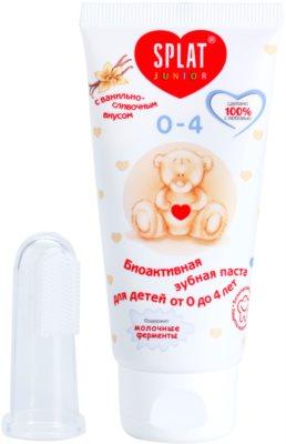Splat Junior 0 - 4 pasta de dinti bio-activa pentru copii cu perie pentru masaj