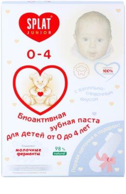 Splat Junior 0 - 4 pasta de dinti bio-activa pentru copii cu perie pentru masaj 2