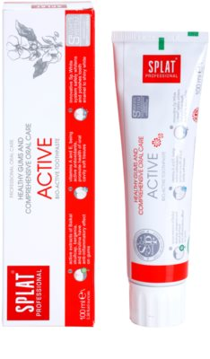 Splat Professional Active bioaktivna zobna pasta za zdrave dlesni in kompleksno nego zob 1