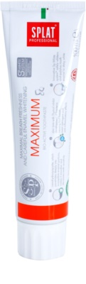 Splat Professional Maximum dentífrico bioativo para um hálito fresco e branqueamento suave do esmalte