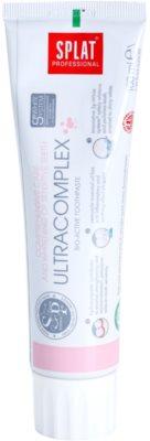 Splat Professional Ultracomplex dentífrico bioativo para cuidado integral e branqueamento de dentes sensíveis