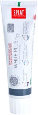 Splat Professional White Plus Bio-Aktiv Zahnpasta für schonendes Bleichen und zum Schutz des Zahnschmelzes