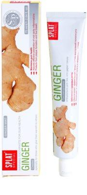 Splat Special Ginger dentífrico de aquecimento para umas gengivas saudáveis 1