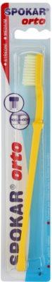 Spokar Orto zubní kartáček pro uživatele fixních rovnátek medium