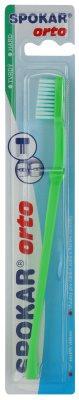 Spokar Orto zobna ščetka za uporabnike fiksnih zobnih aparatov hard