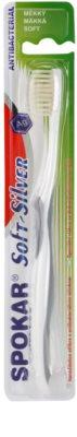 Spokar Soft-Silver antibakterielle Zahnbürste weich