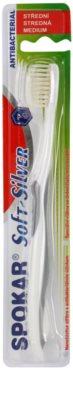 Spokar Soft-Silver antibakteriális fogkefe közepes