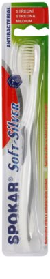 Spokar Soft-Silver cepillo dental antibacteriano  medio
