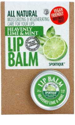 Sportique Wellness Heavenly Lime & Mint bálsamo labial