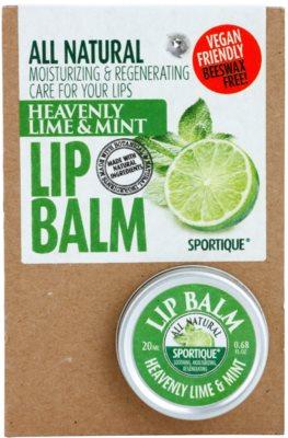 Sportique Wellness Heavenly Lime & Mint бальзам для губ