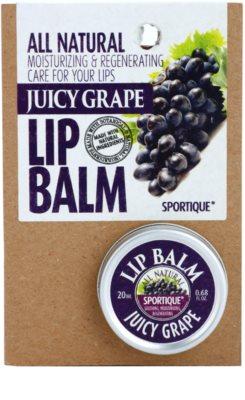 Sportique Wellness Juicy Grape balzám na rty