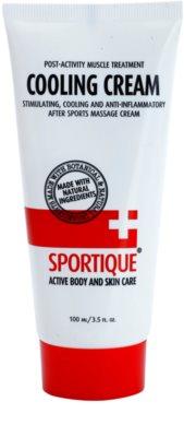 Sportique Sports kühlende Masssagecreme für Muskeln und Gelenke