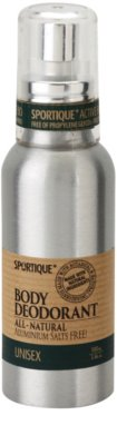 Sportique Wellness Unisex desodorante natural en spray