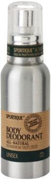 Sportique Wellness Unisex desodorizante em spray natural