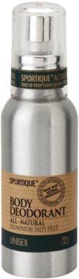 Sportique Wellness Unisex natürliches Deodorant im Spray