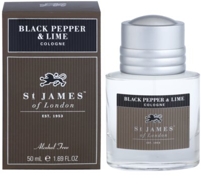 St. James Of London Black Pepper & Persian Lime Eau de Cologne para homens