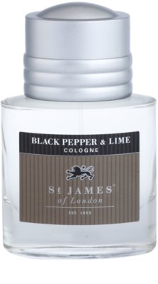 St. James Of London Black Pepper & Persian Lime Eau de Cologne para homens 3